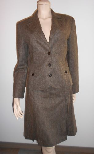 TAILLEUR JUPE laine chocolat, taille 40, Devernois