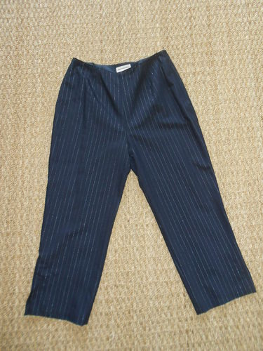 Navy blue wool PANTS, 38, Thierry Mugler
