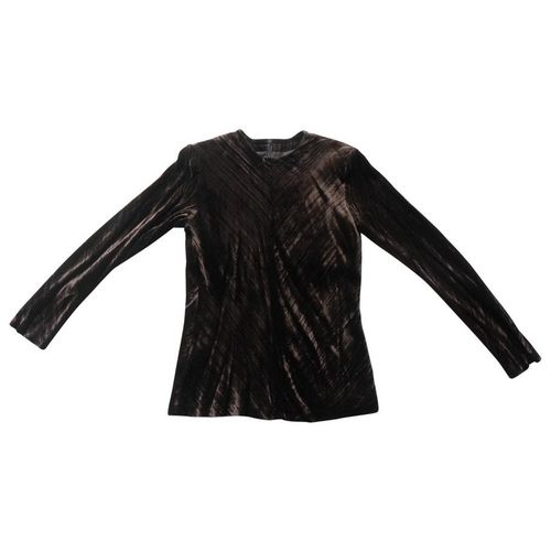 TOP velours chocolat, S, Yves Saint Laurent