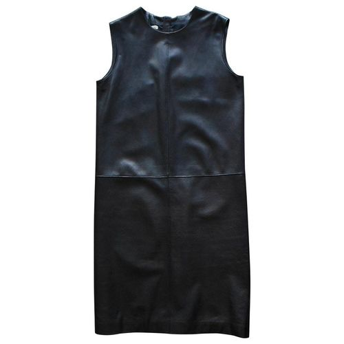 Black leather DRESS, M, HERMES